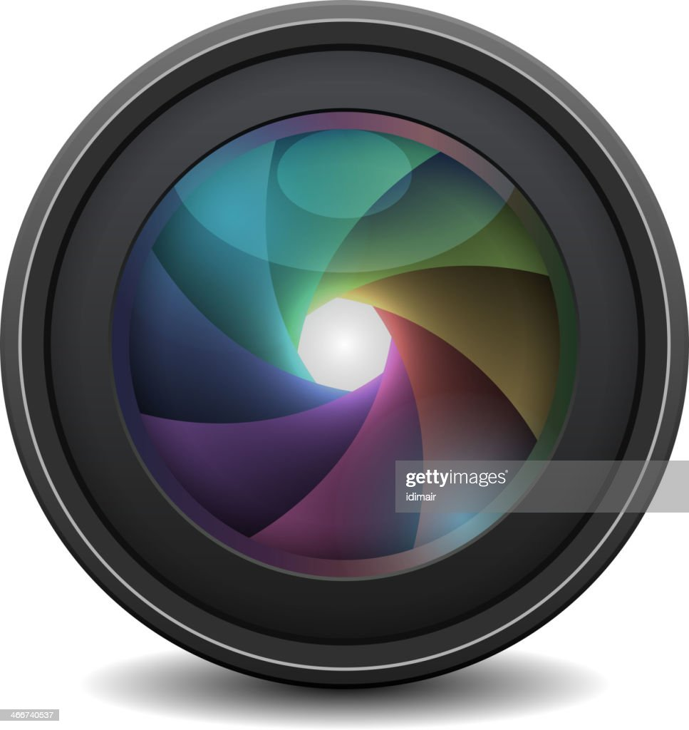 Photo Lens isolated. Vector