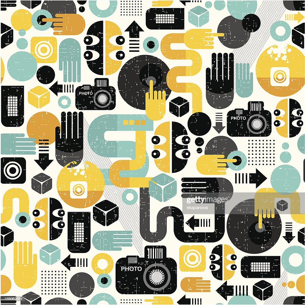 Photo man seamless pattern.
