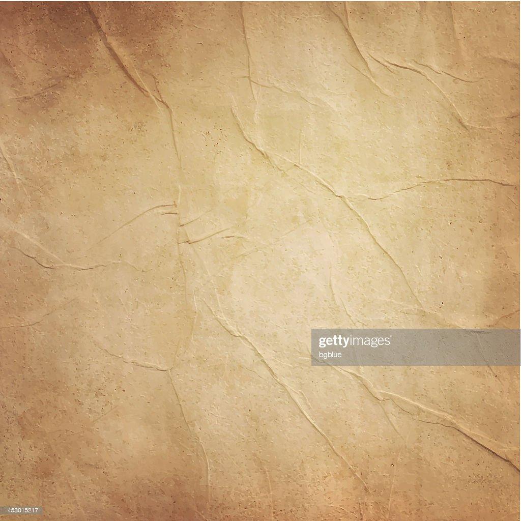 Photo of blank old folded brownish paper : stock illustration