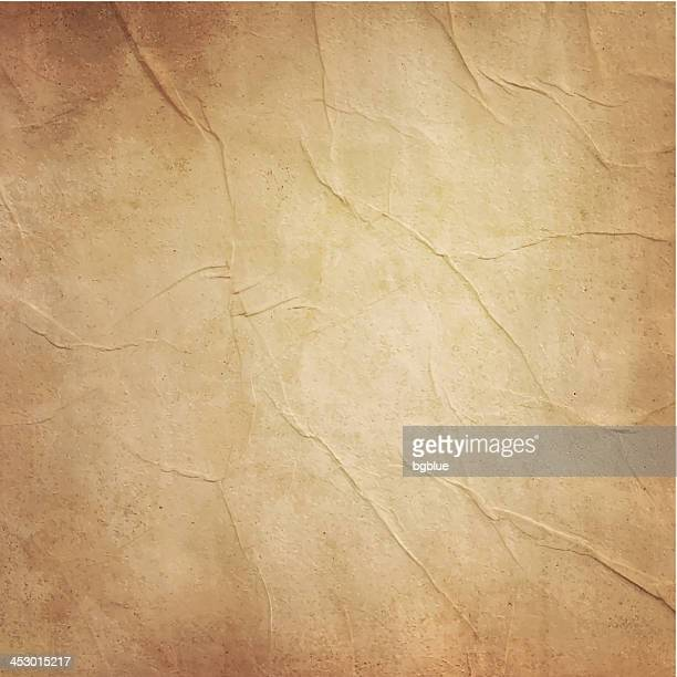 photo of blank old folded brownish paper - crumpled stock illustrations