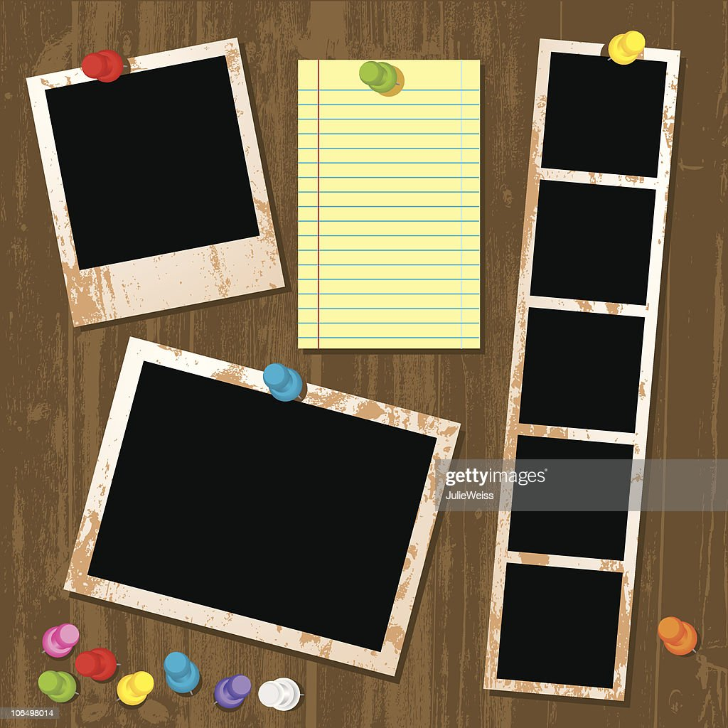 Photo & Paper Interface : stock illustration