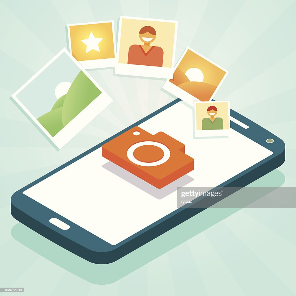 Photo phone : stock illustration