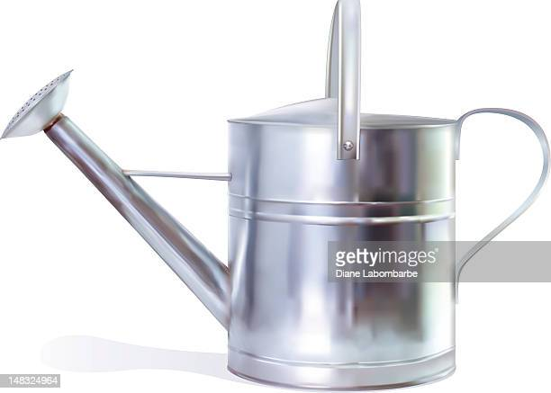 photo realistic watering can - watering can stock illustrations