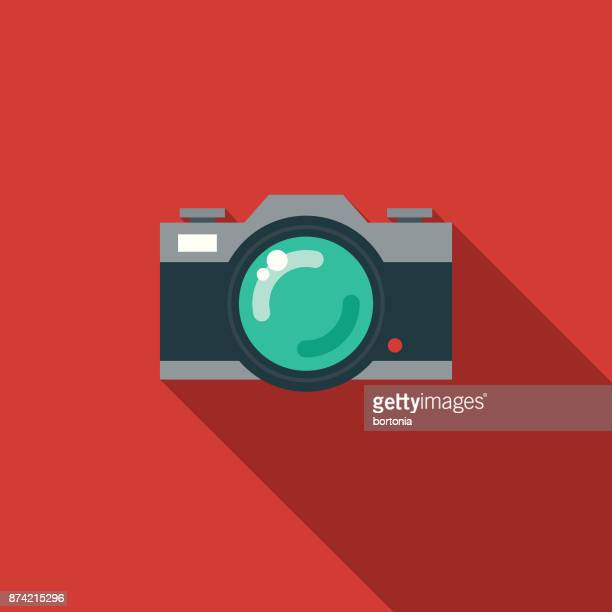 Photo Social Media Flat Design Icon with Side Shadow