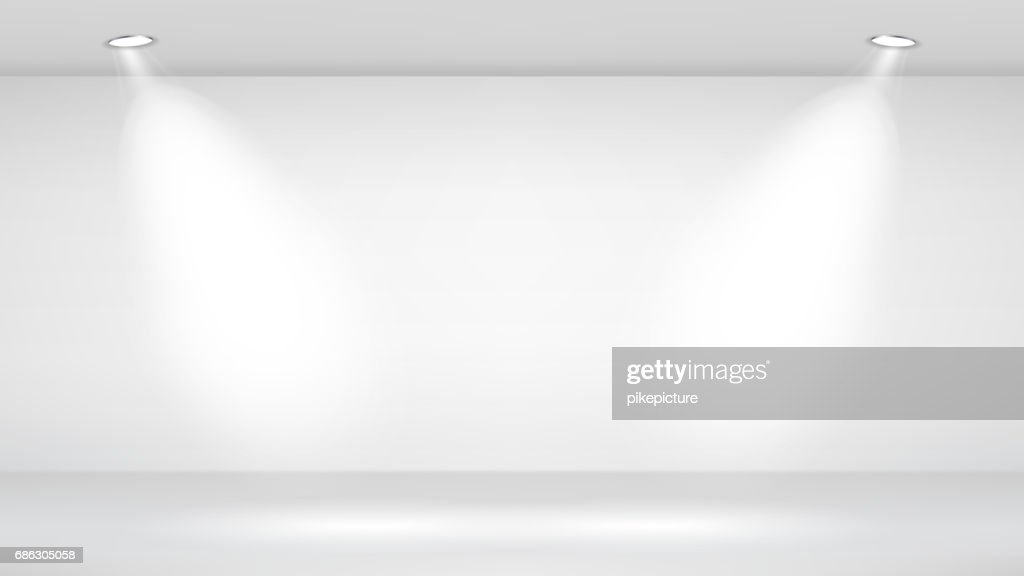 Photo Studio Room. Empty White Interior. Vector Template Illustration. Vector Illustration