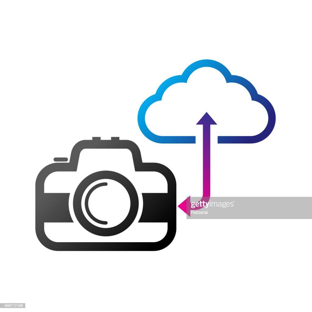 Übertragung von Fotos : Stock-Illustration