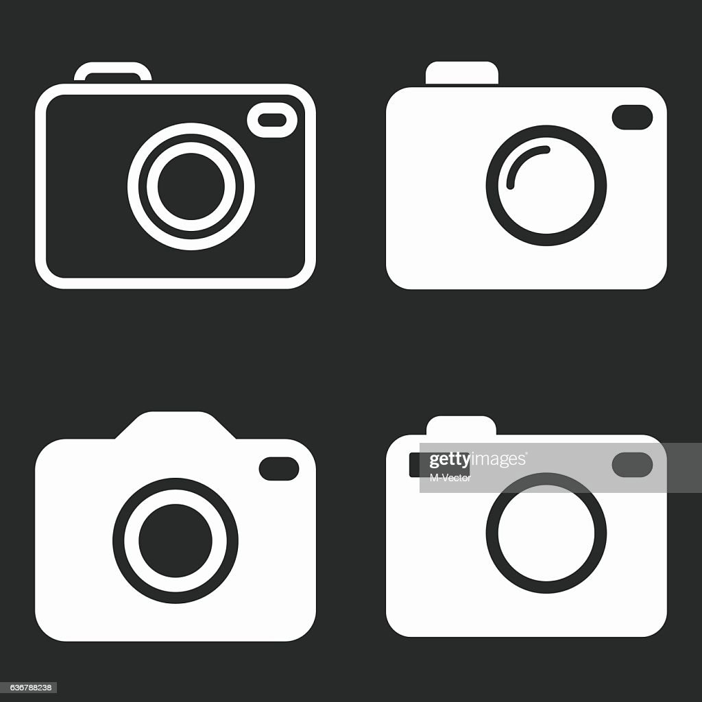 Photo - vector icon.