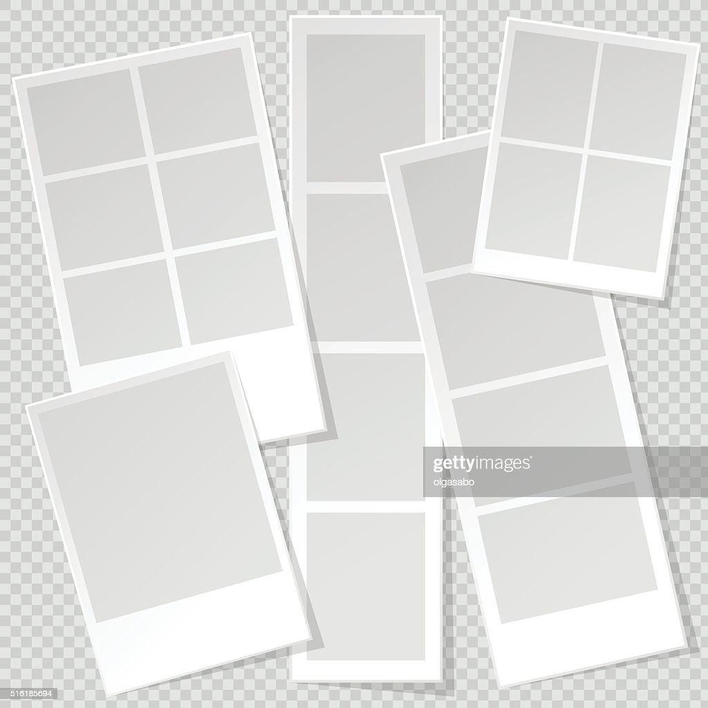 Photobooth Photo Frame templates with sharp transparent shadow.