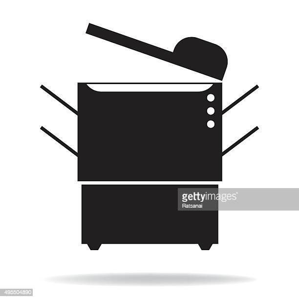 photocopier icon vector - photocopier stock illustrations, clip art, cartoons, & icons