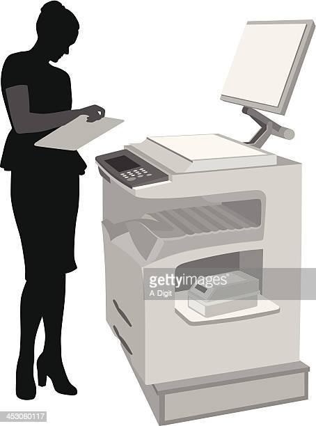 photocopier - photocopier stock illustrations, clip art, cartoons, & icons