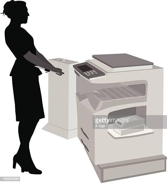 photocopier vector silhouette - photocopier stock illustrations, clip art, cartoons, & icons