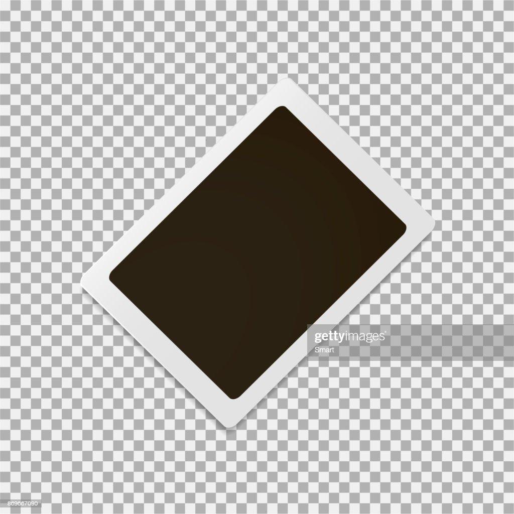 Photoframe on a grey background