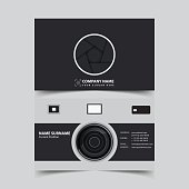 Photographer Business card design template.
