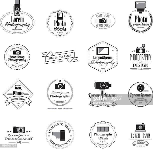 Photographer filmmaker emblems and logos