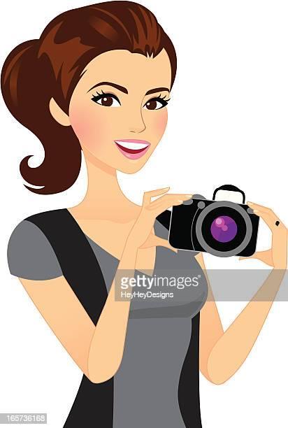 Photographer Girl Holding Camera