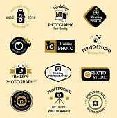 Photographer icons vector set