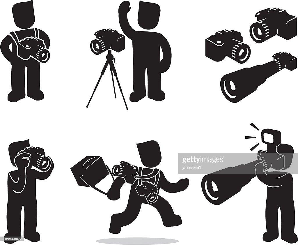 Photographer : stock illustration