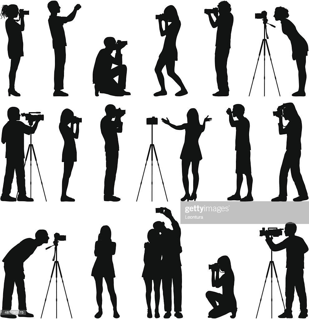 Photographers : stock illustration