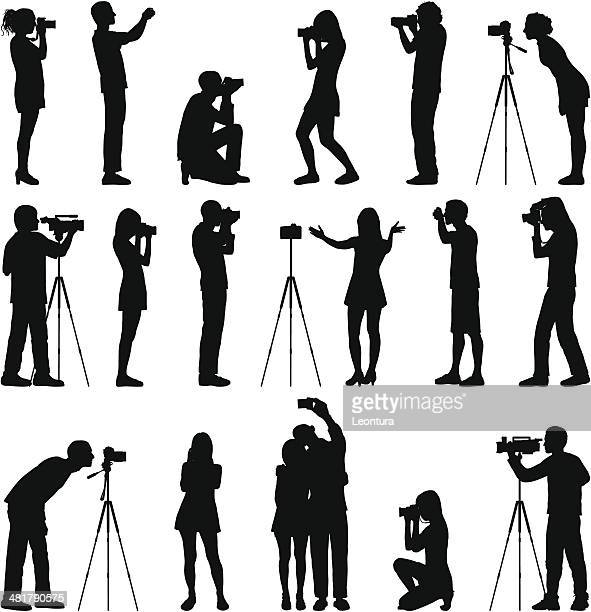 photographers - video camera stock illustrations, clip art, cartoons, & icons