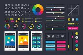 Photographic photo editor app icons UI elements frames camera vector
