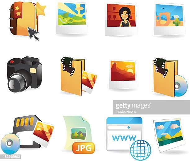 Photography & Tourism Web Icons