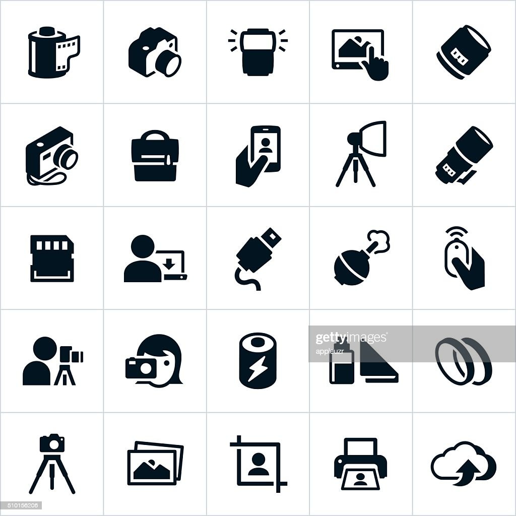 Photography and Camera Icons : stock illustration
