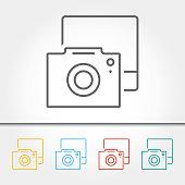 Photography Camera Single Icon Vector Illustration