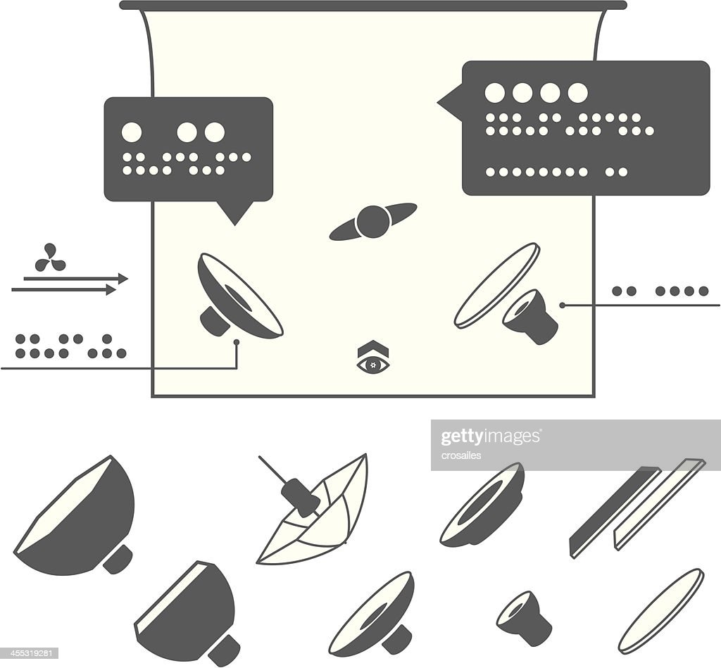 photography equipment icons for lighting diagrams vector art getty rh gettyimages ca Instantaneous Velocity Vector Diagram Vector Diagram Worksheet