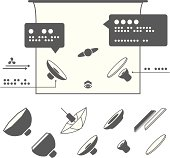 Photography Equipment Icons for Lighting Diagrams