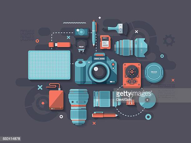 Photography Flat Design Concept