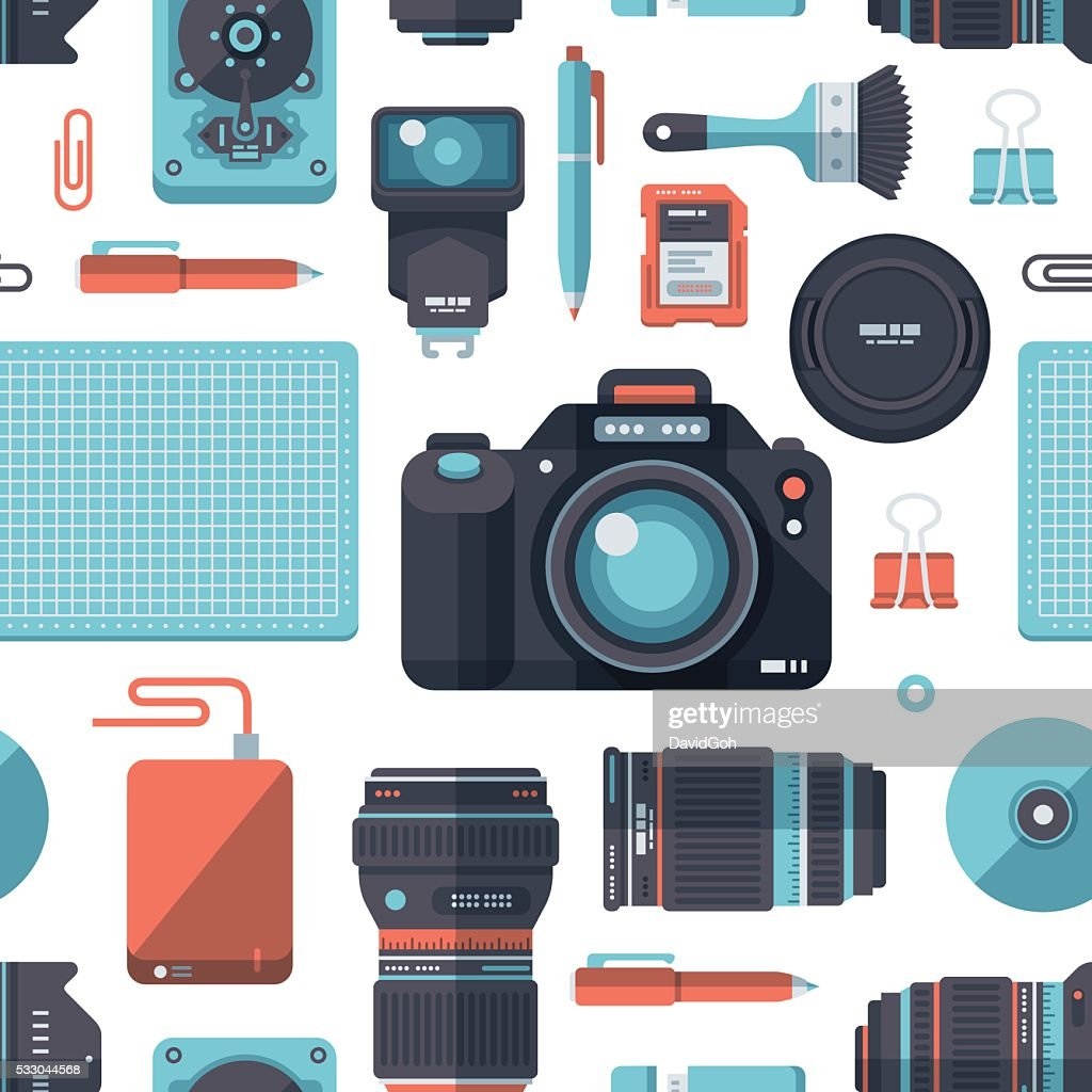 Photography Flat Design Pattern
