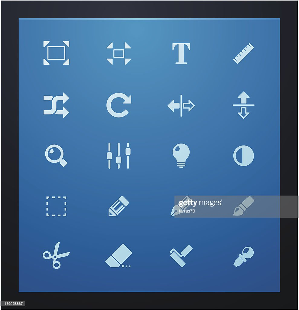 Photography glyph set