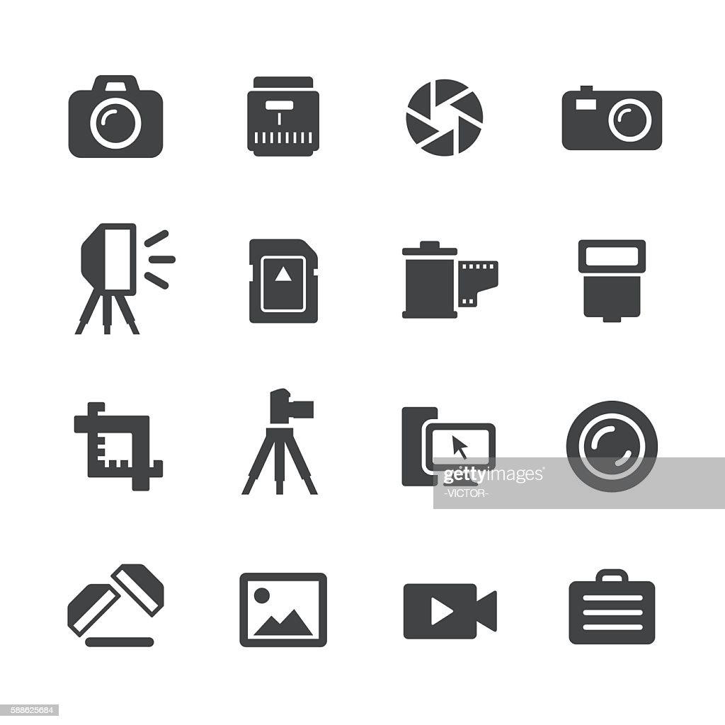 Photography Icons - Acme Series : stock illustration