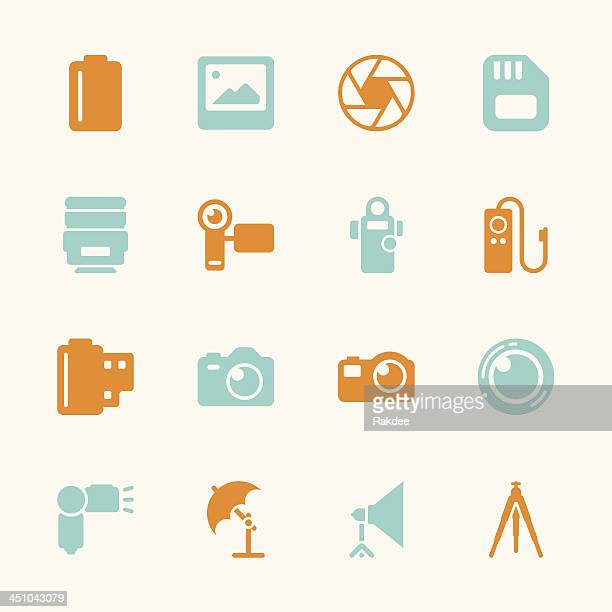 Photography Icons - Color Series   EPS10