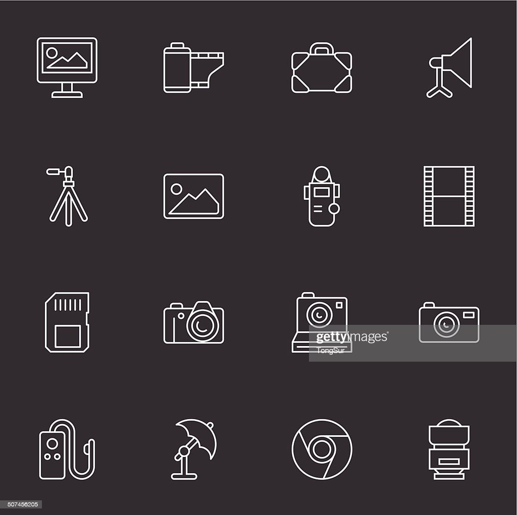 Photography Icons - Light White