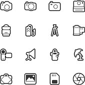 Photography icons - Regular Outline