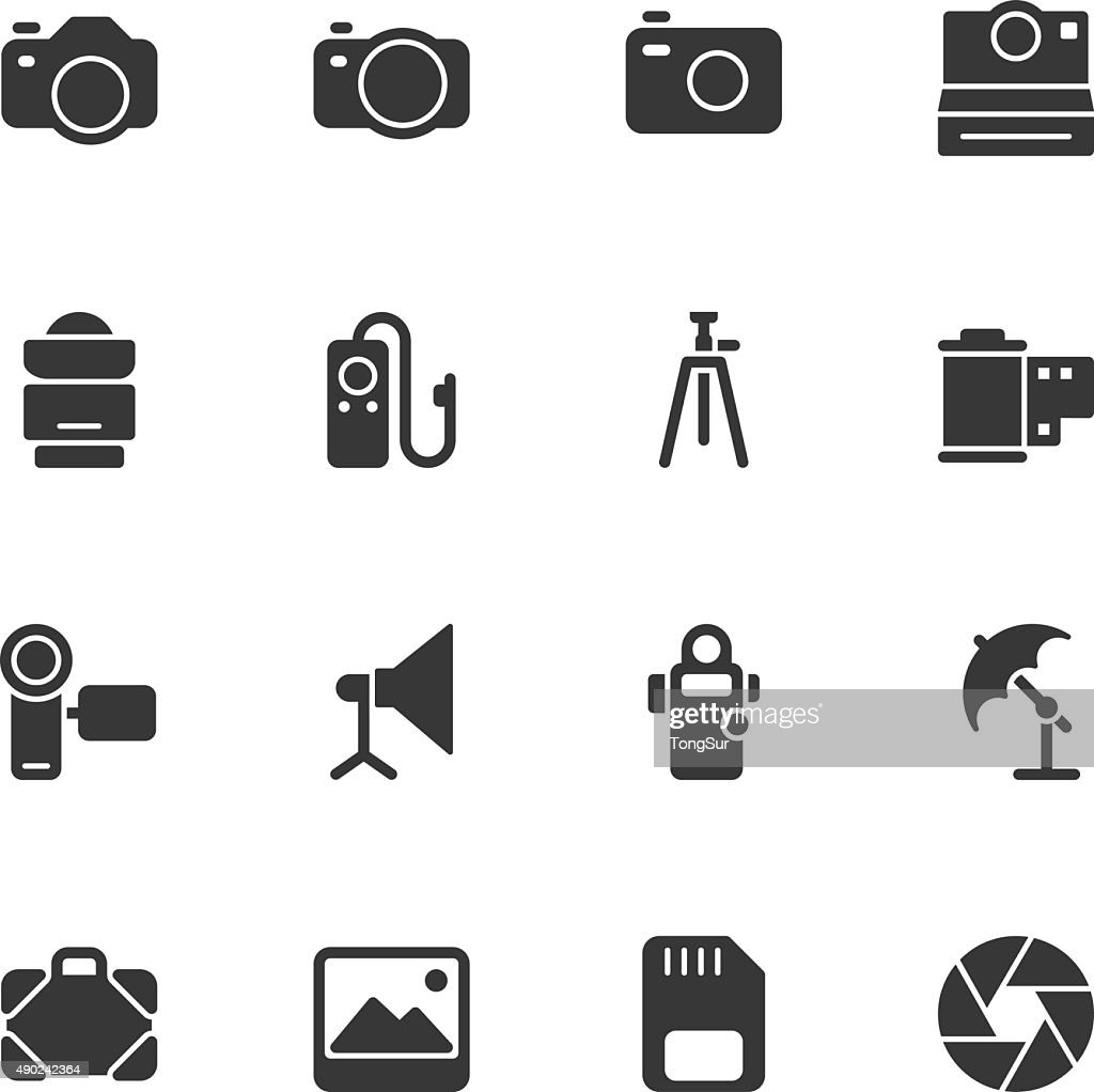 Photography icons - Regular