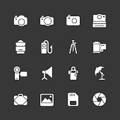 Photography icons - Regular - White Series