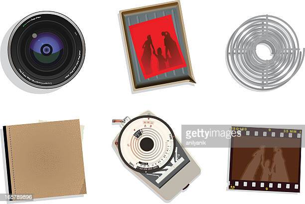 photography icons - light meter stock illustrations, clip art, cartoons, & icons