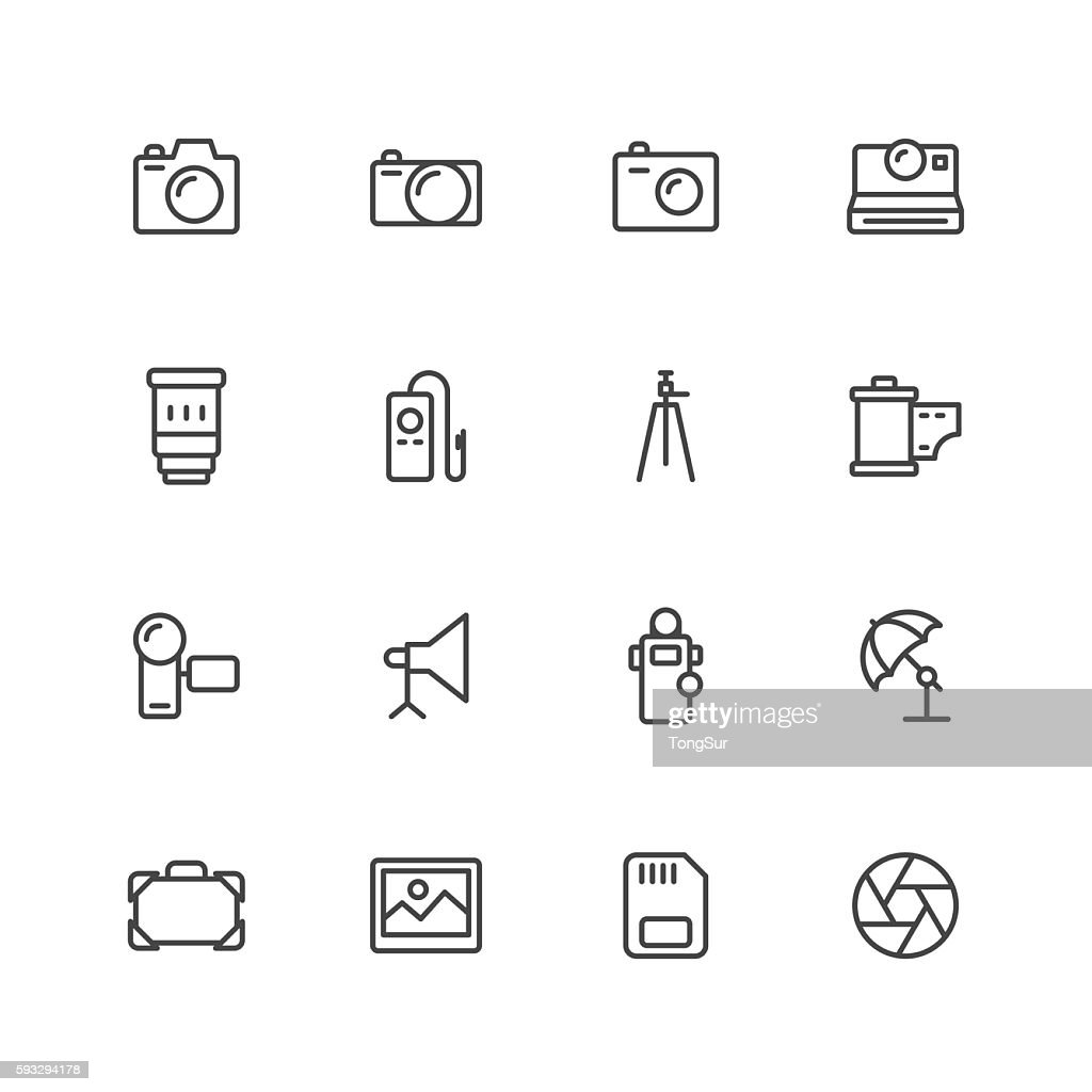 Photography icons : stock illustration