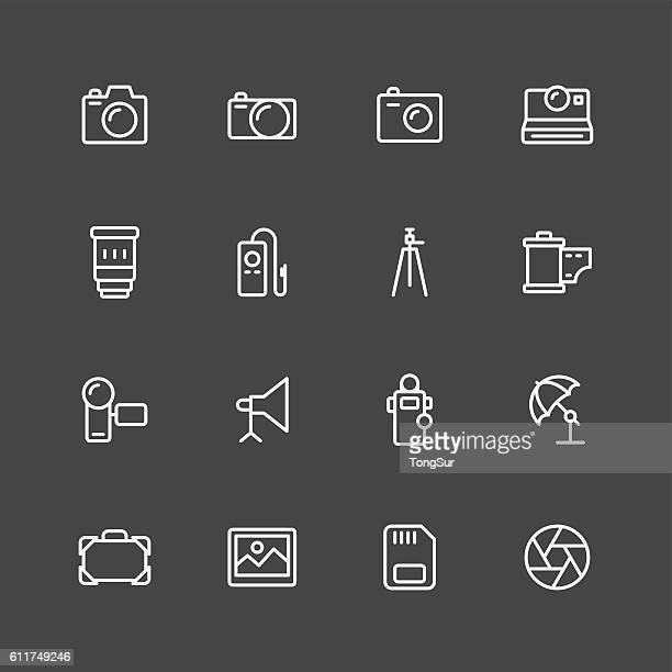 Photography icons - White Series