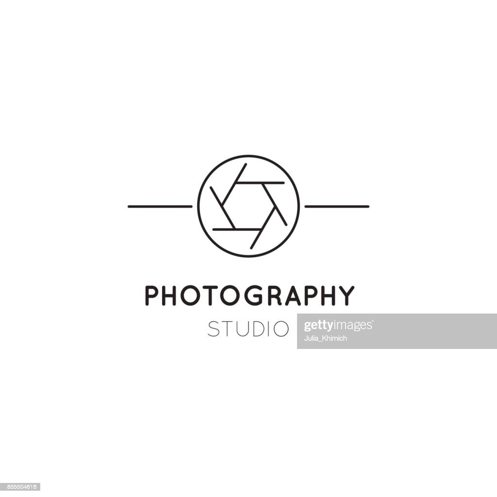 Photography line icon template