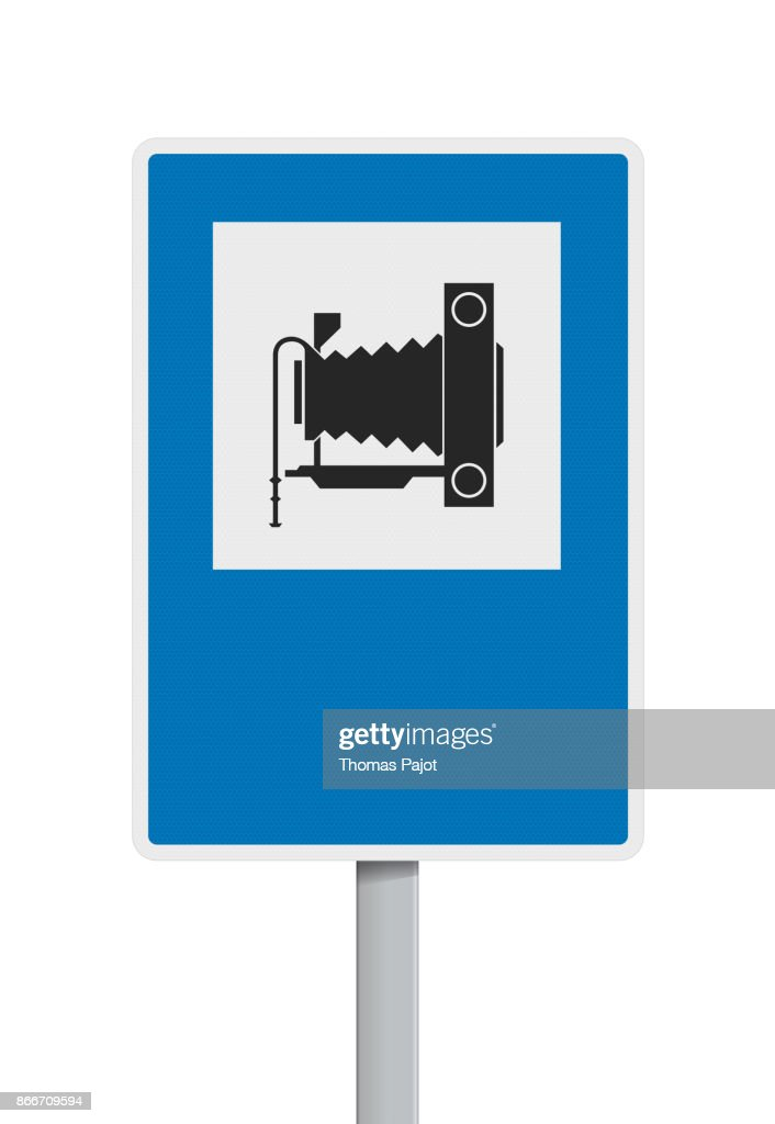 Photography road sign