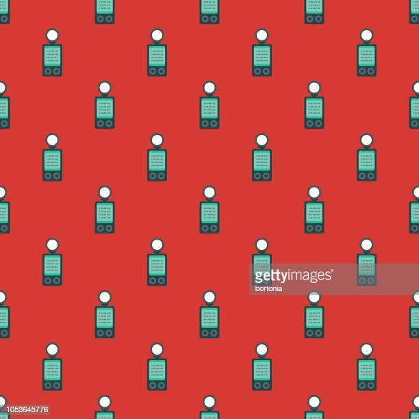 photography seamless pattern - light meter stock illustrations, clip art, cartoons, & icons