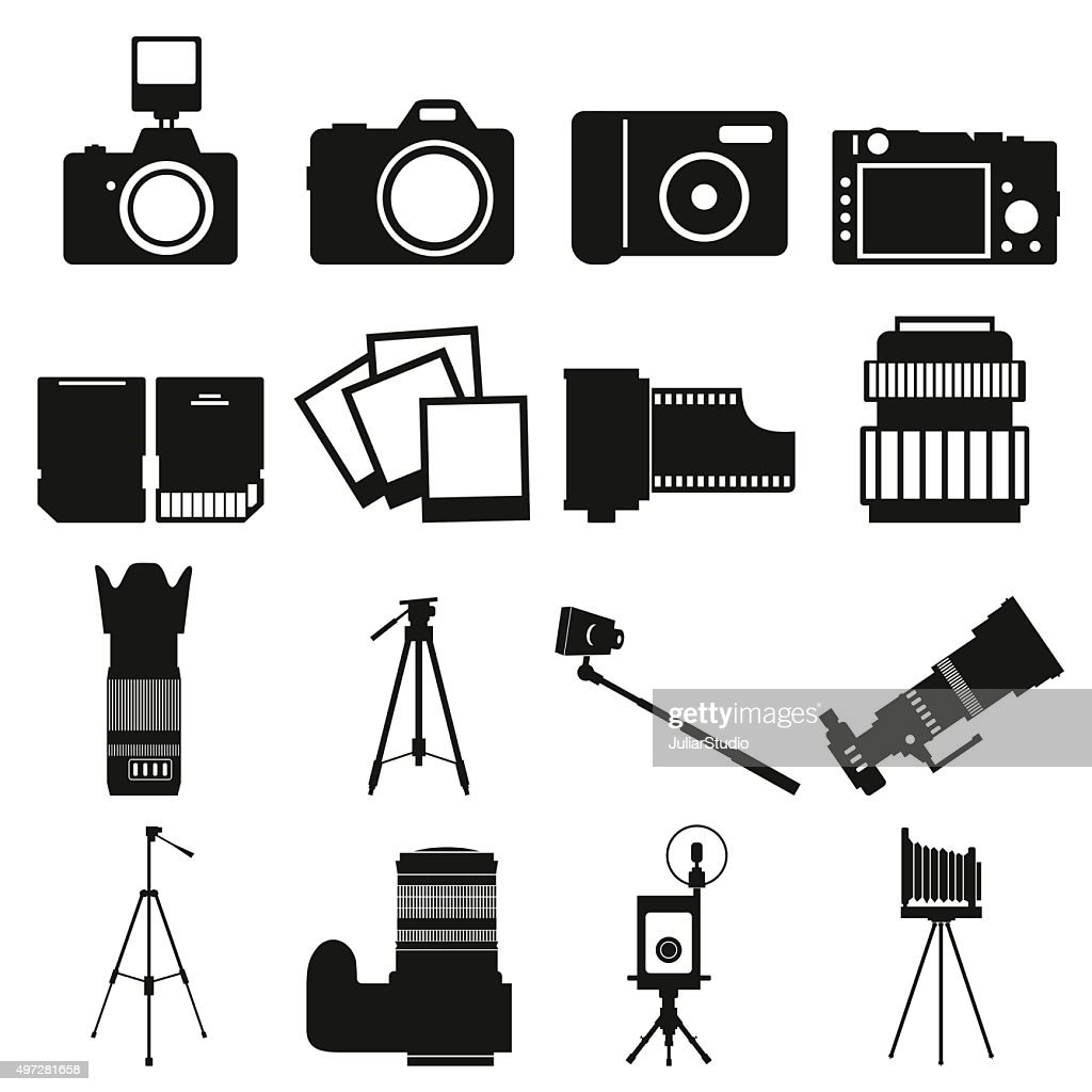 Photography simple icons