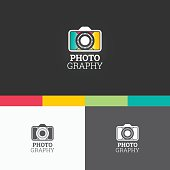 Photography Symbol Template. Vector Elements. Brand Icon Design Illustration