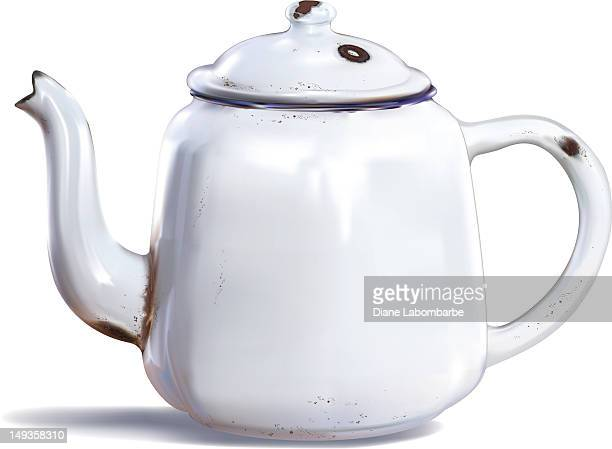Photorealisitic Drawing of an Antique Coffee Pot