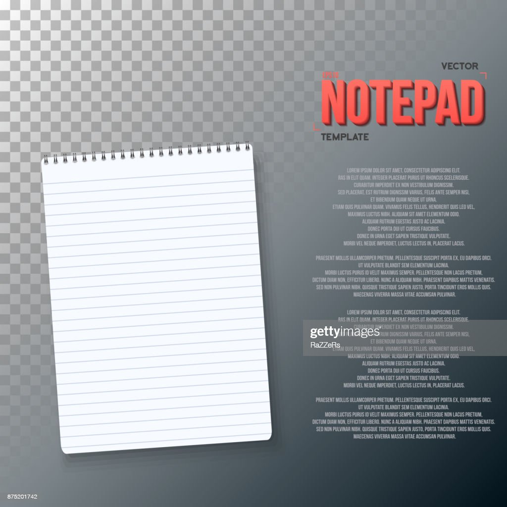 Photorealistic Paper Notebook Template