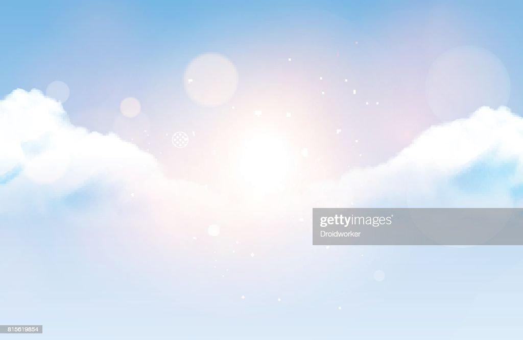Photorealistic Vector Cloudy Sky