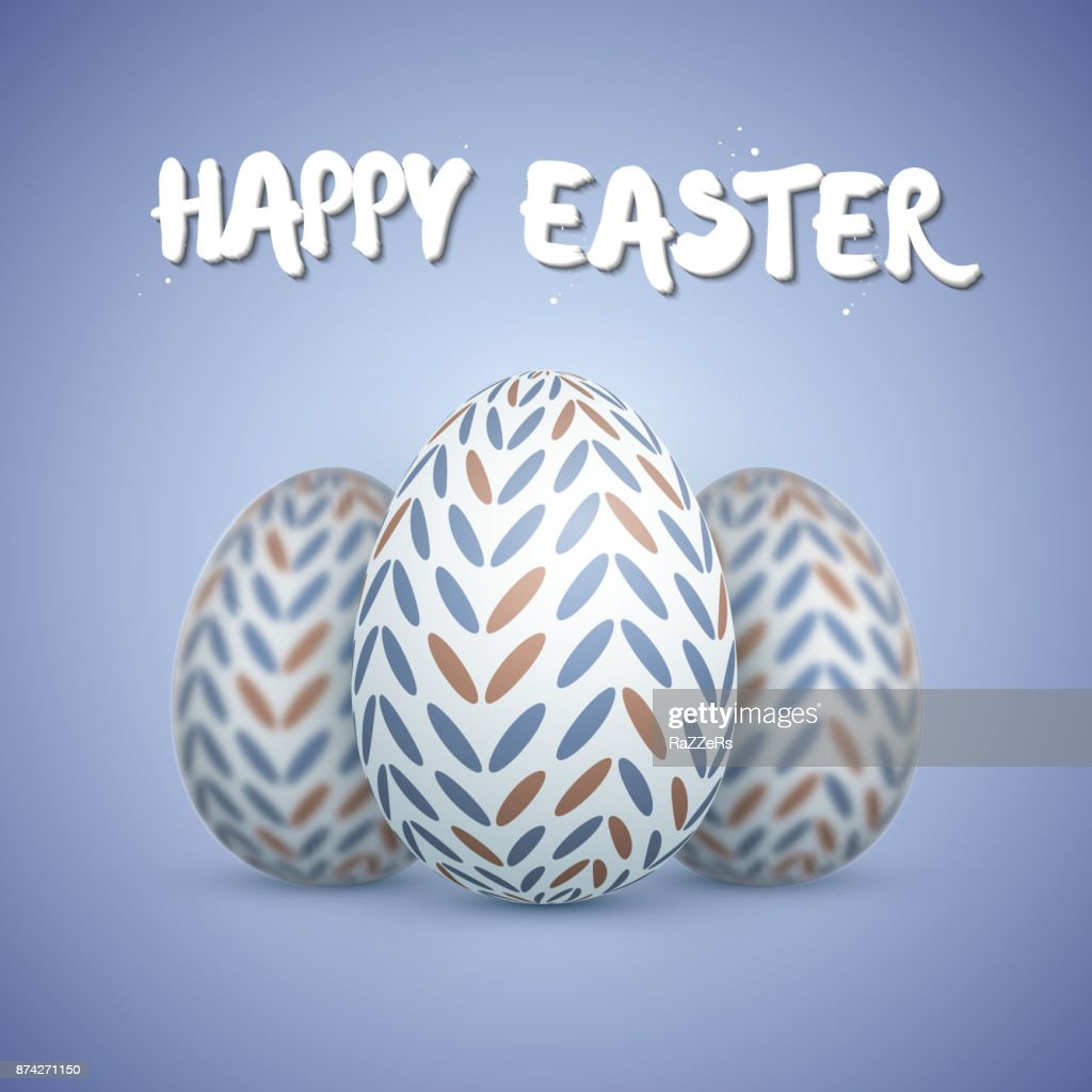 Photorealistic Vector Easter Egg Set